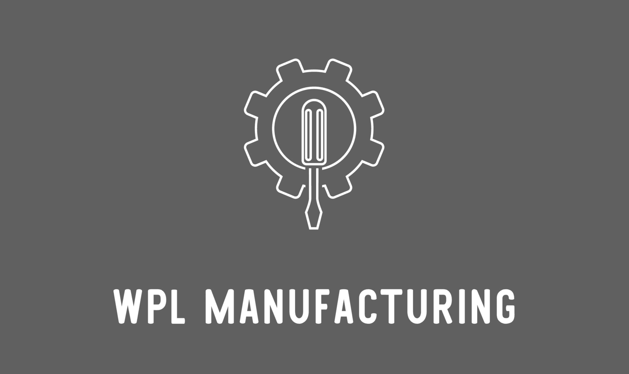 Renderforest alternatives - sample logo made with Looka - WPL Manufacturing
