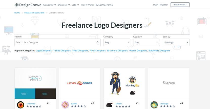 DesignCrowd screenshot - Freelance Logo Designers