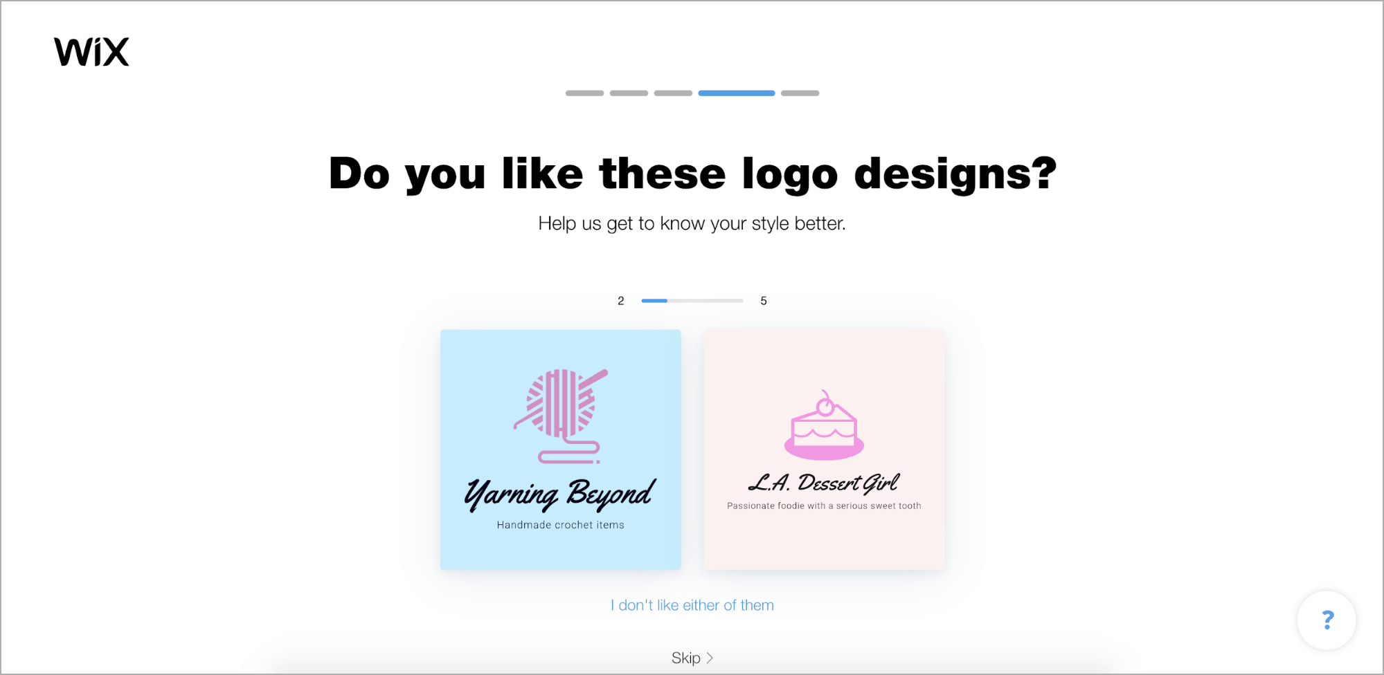 Wix Logo Maker screenshot - Choose your logo style