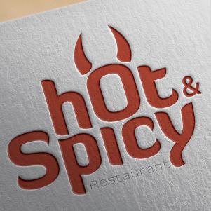 Restaurant logo design - Hot & Spicy