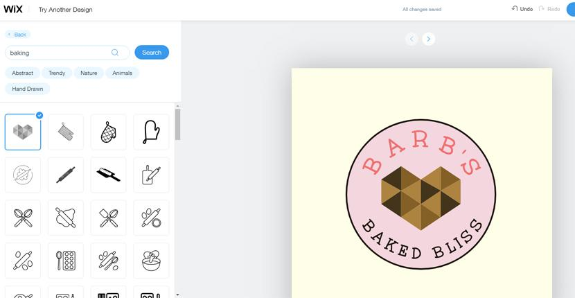 Wix Logo Maker screenshot - icon gallery
