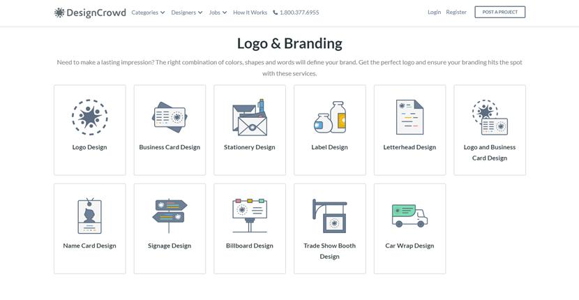 DesignCrowd screenshot - Logo & Branding