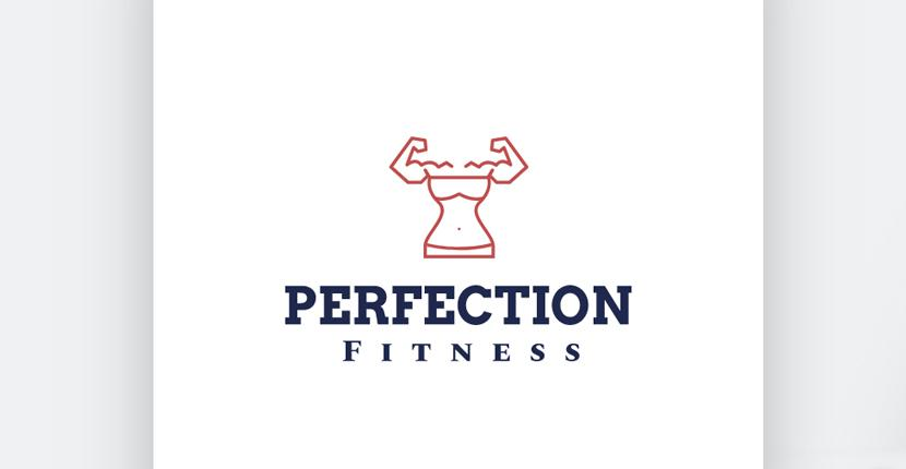 Sample fitness logo made with Wix Logo Maker - Perfection Fitness, version #1