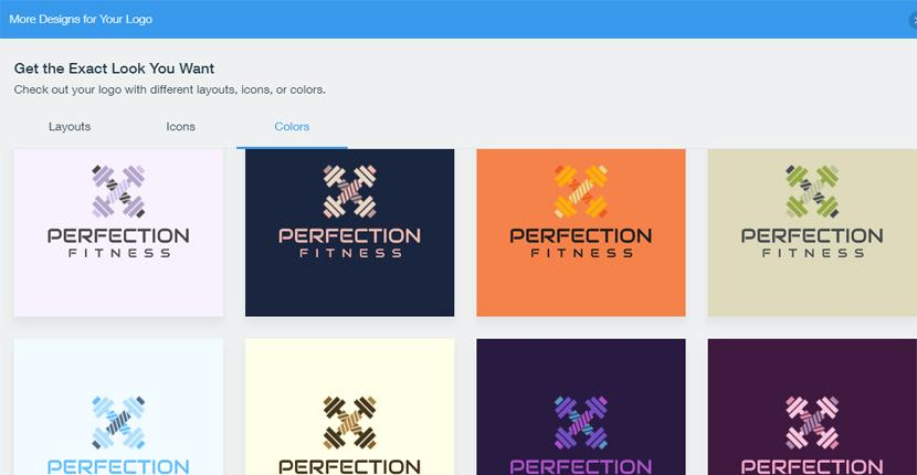 Wix Logo Maker screenshot - More designs for your logo