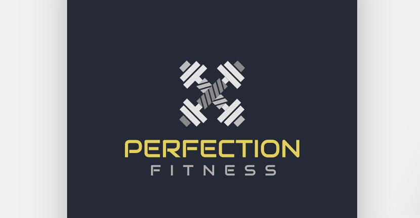 Sample fitness logo made with Wix Logo Maker - Perfection Fitness, version #2