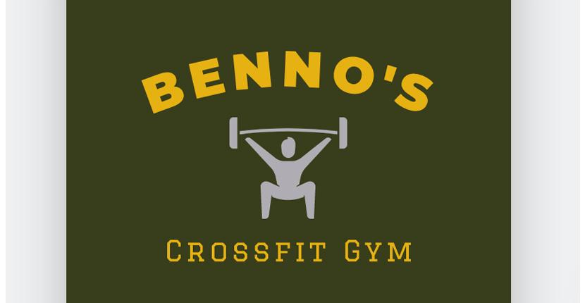 Sample fitness logo made with Wix Logo Maker - Benno's Crossfit Gym