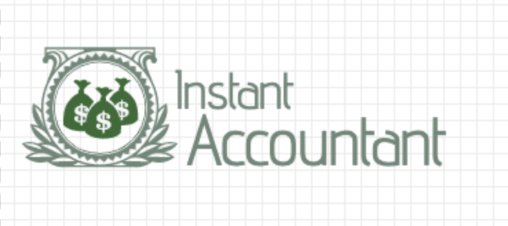 Custom logo made with LogoMaker - Instant Accountant