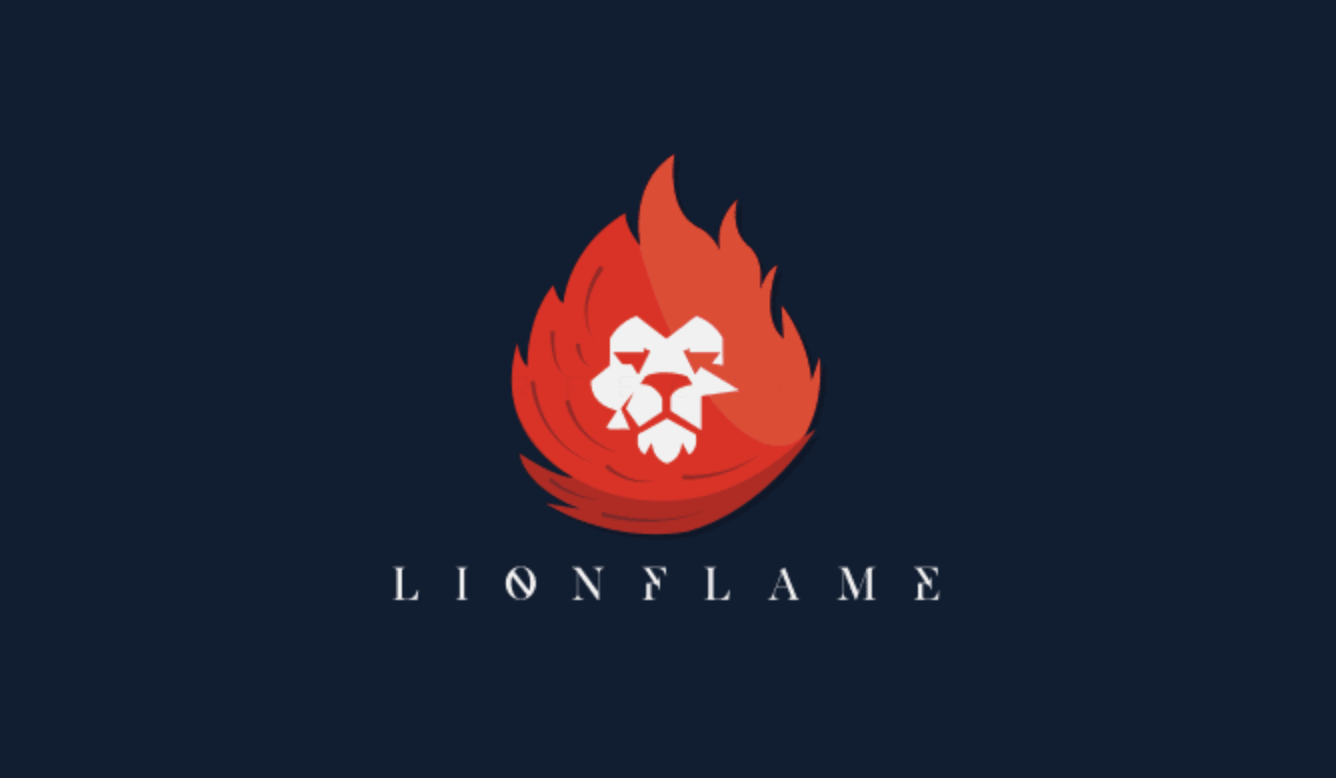 Custom logo created on Fiverr - LionFlame