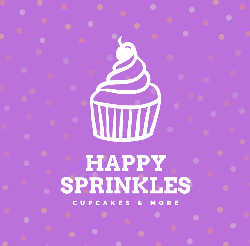 Free logo made with Canva Logo Maker - Happy Sprinkles