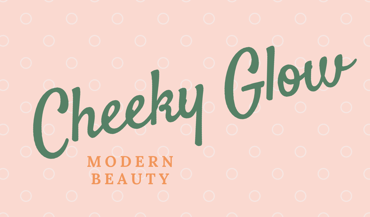 Free logo made with Canva Logo Maker - Cheeky Glow Modern Beauty