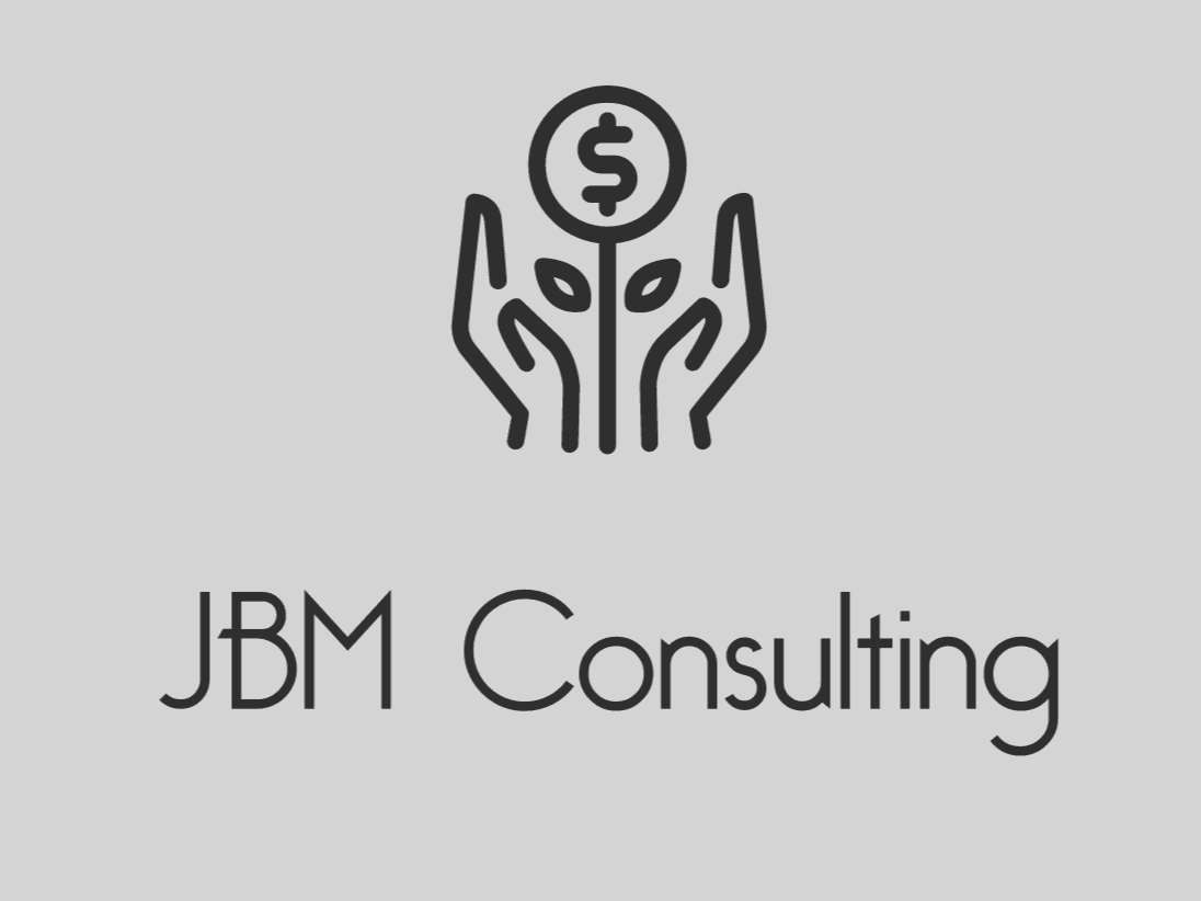 Sample logo made with Looka - JBM Consulting