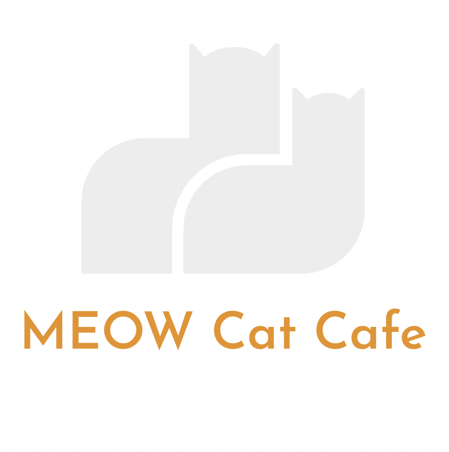 Sample logo made with Hatchful free logo maker - MEOW Cat Cafe