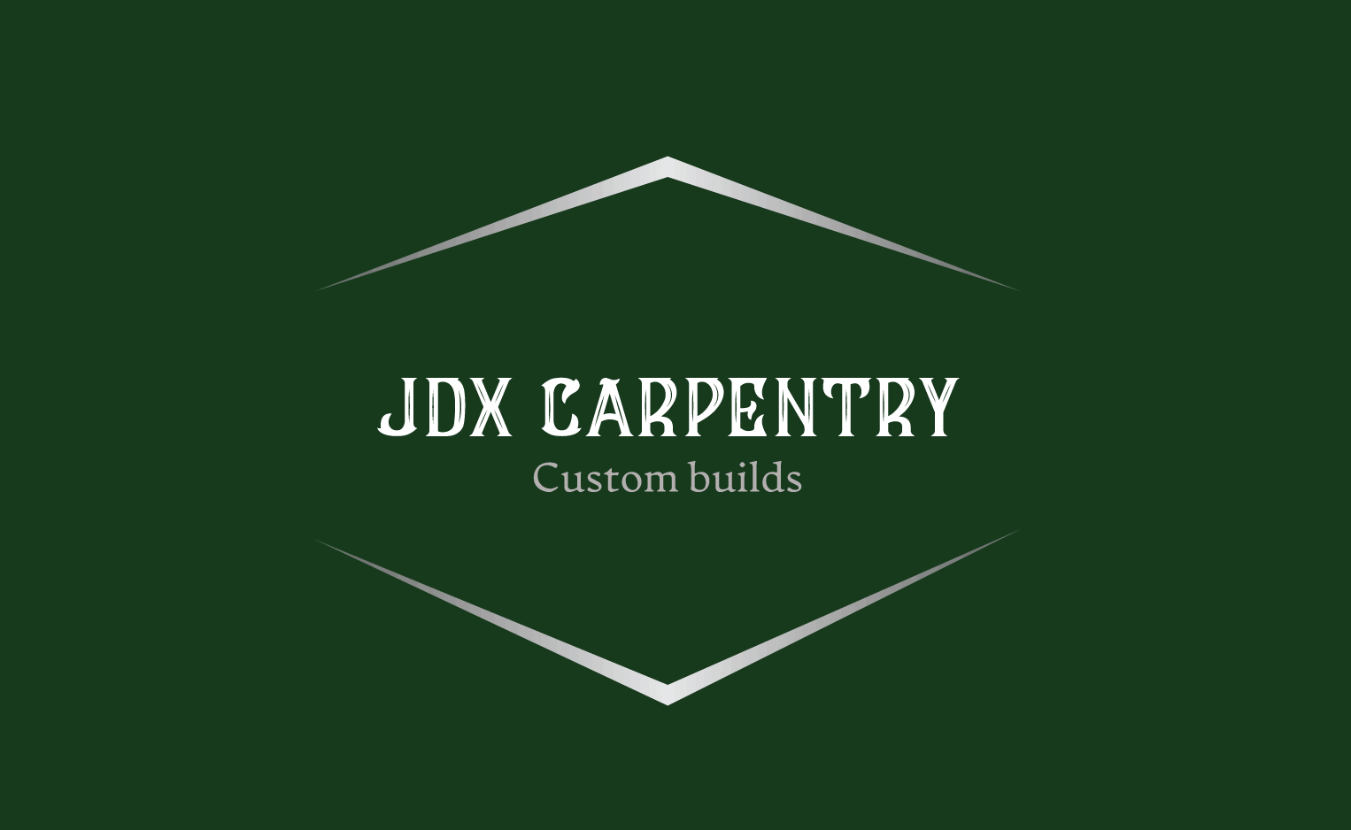 Sample woodworking logo made with Looka - JDX Carpentry