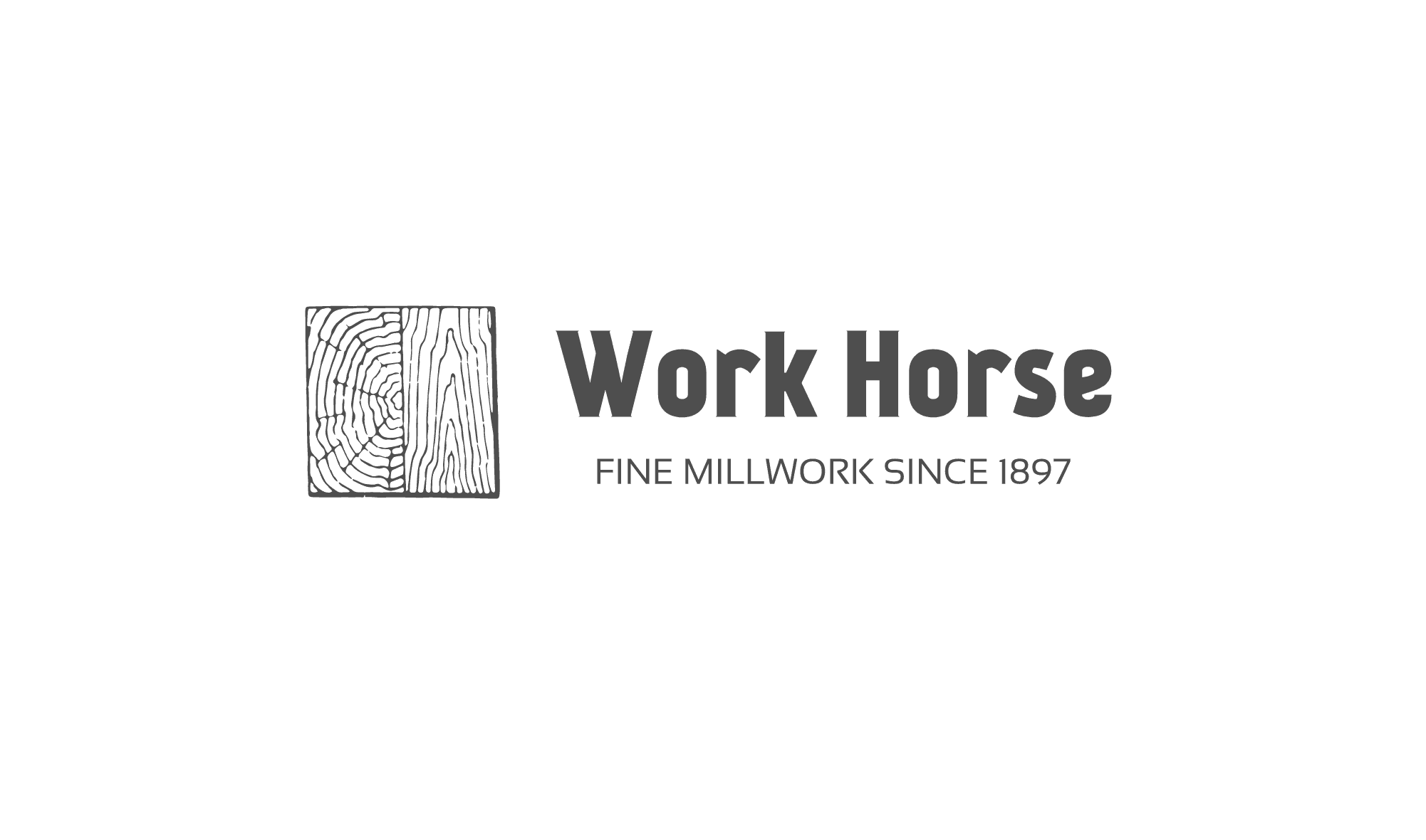 Sample woodworking logo made with Looka - Work Horse