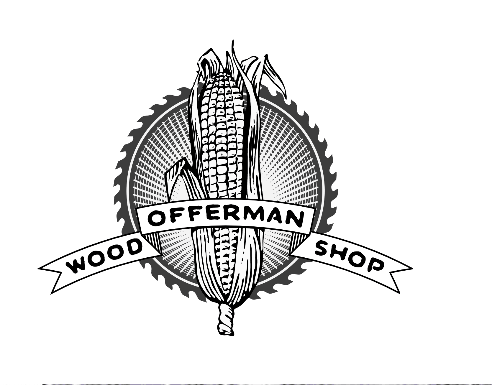 Woodworker logo: Offerman Wood Shop