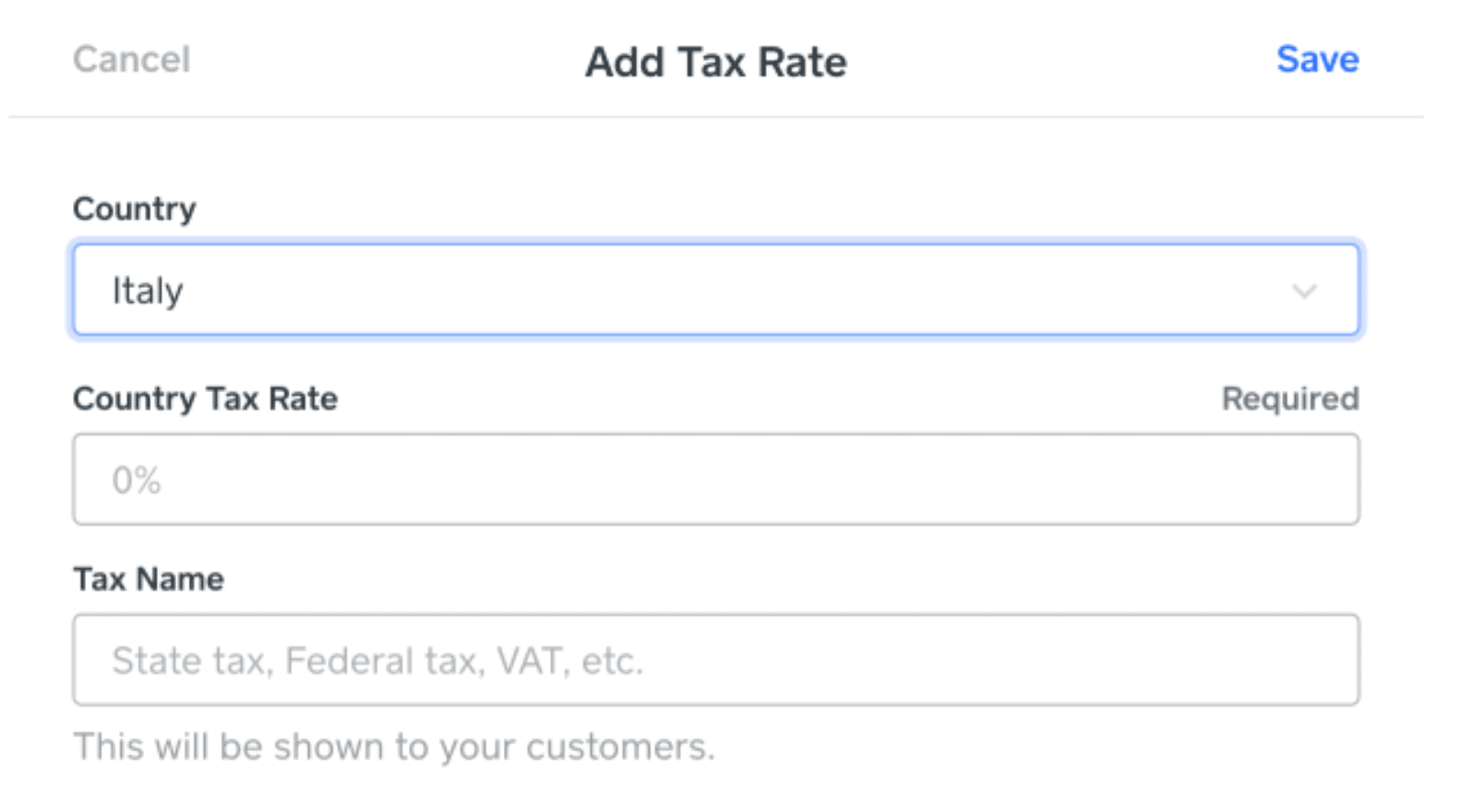 Square's tax calculator