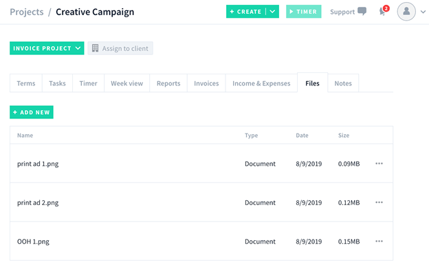 AND CO screenshot - Project manager