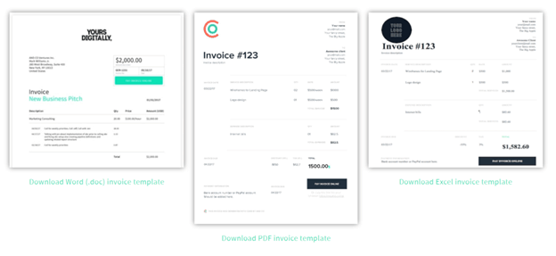 AND CO screenshot - invoice templates
