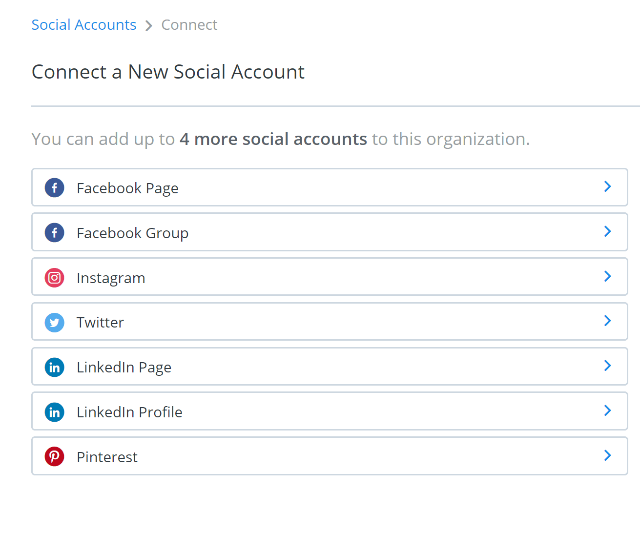 Buffer screenshot - Connect a New Social Account