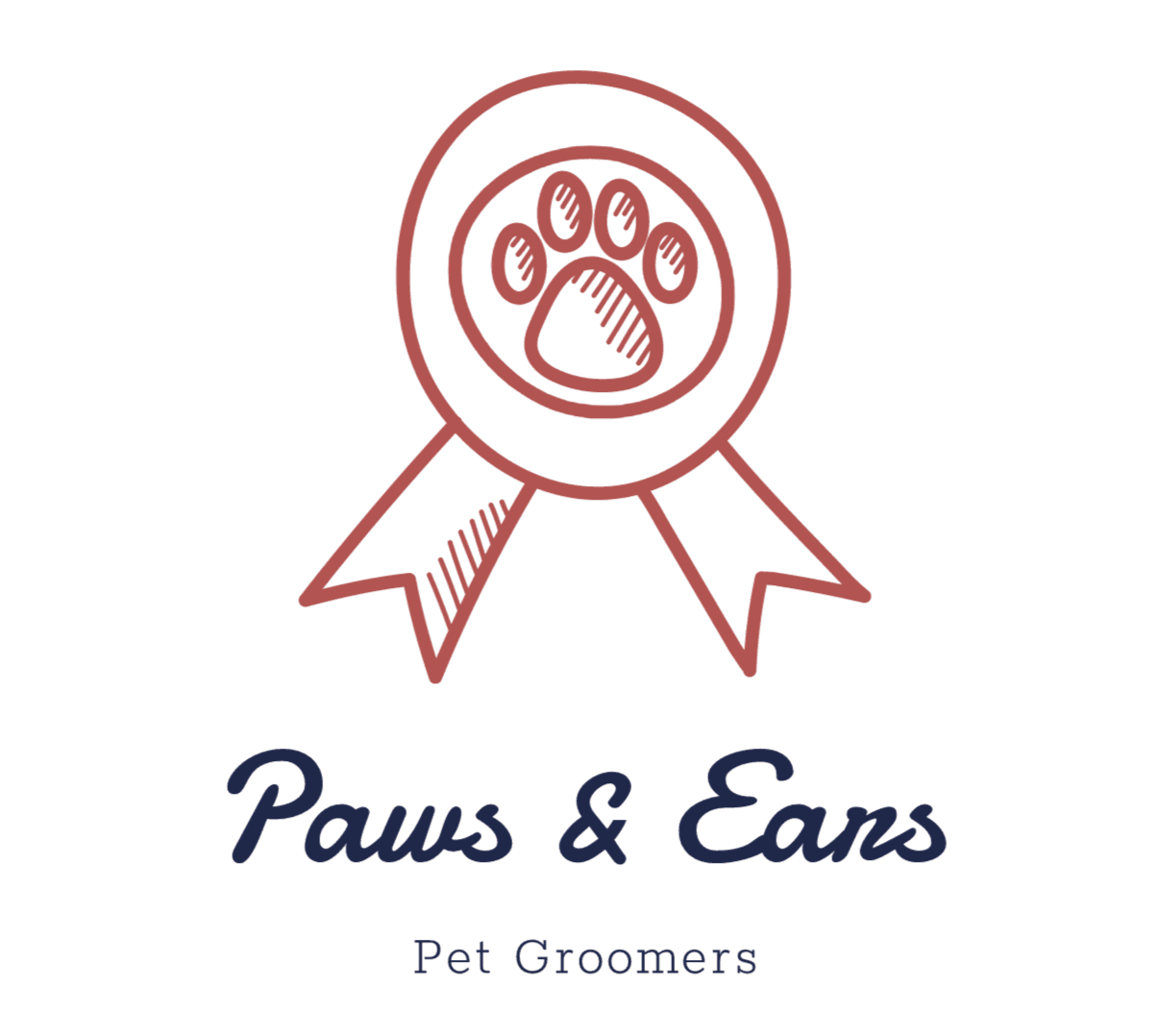 Vintage logo made with Wix Logo Maker - Paws & Ears
