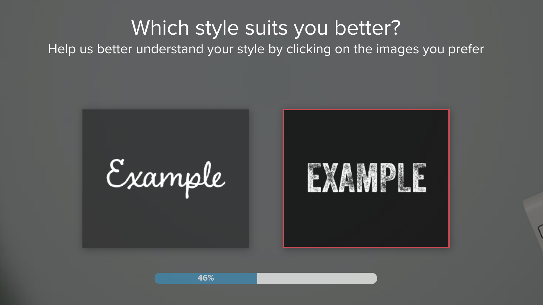 Tailor Brands screenshot - Choose font style