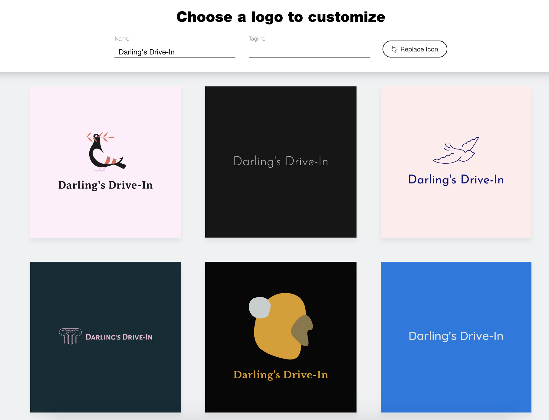 Wix Logo Maker screenshot - vintage logos to customize