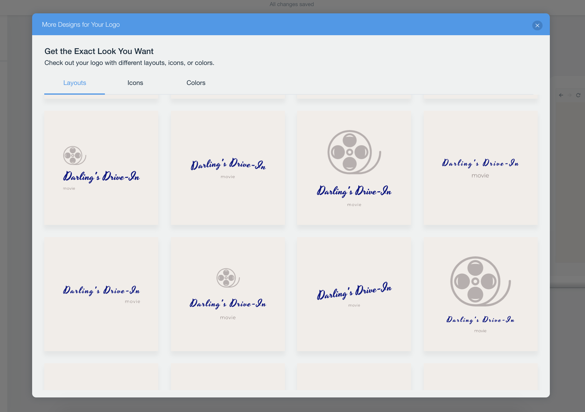 Wix Logo Maker screenshot - vintage logo layouts