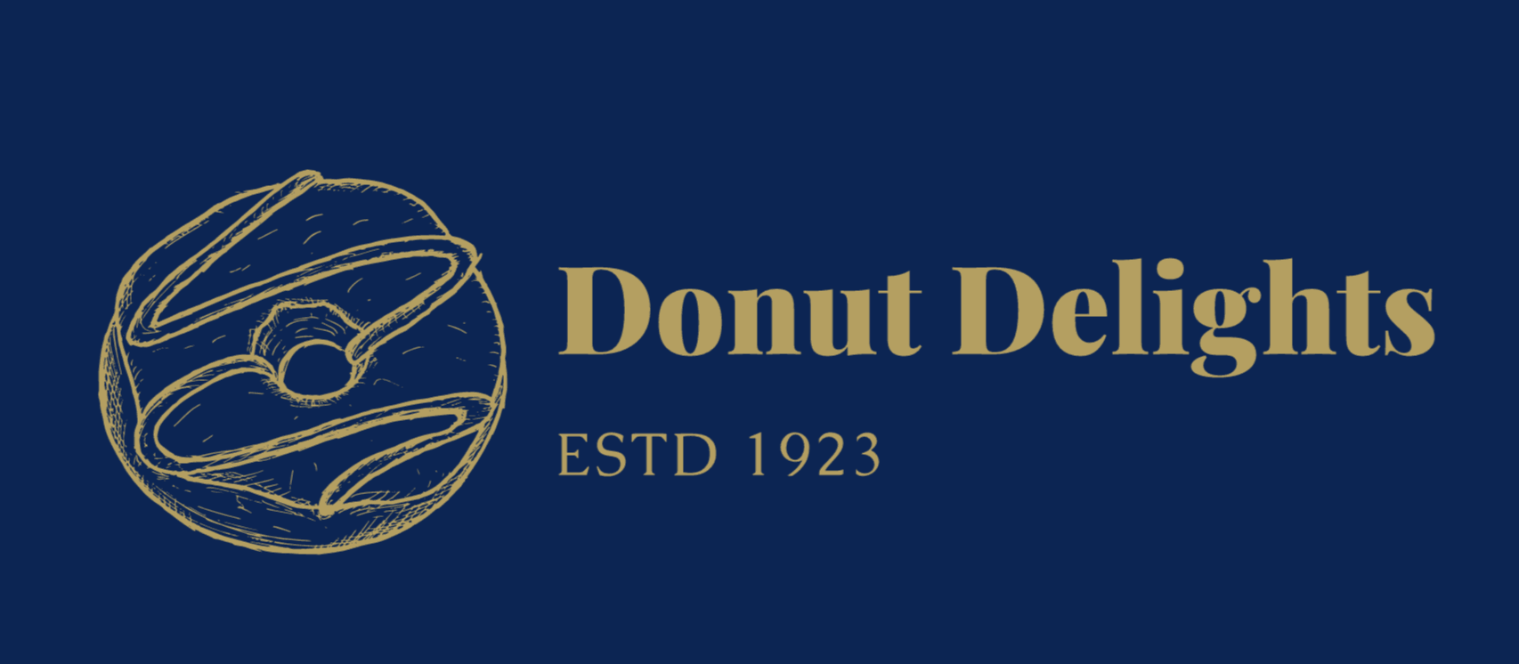 Vintage logo made with Wix Logo Maker - Donut Delights