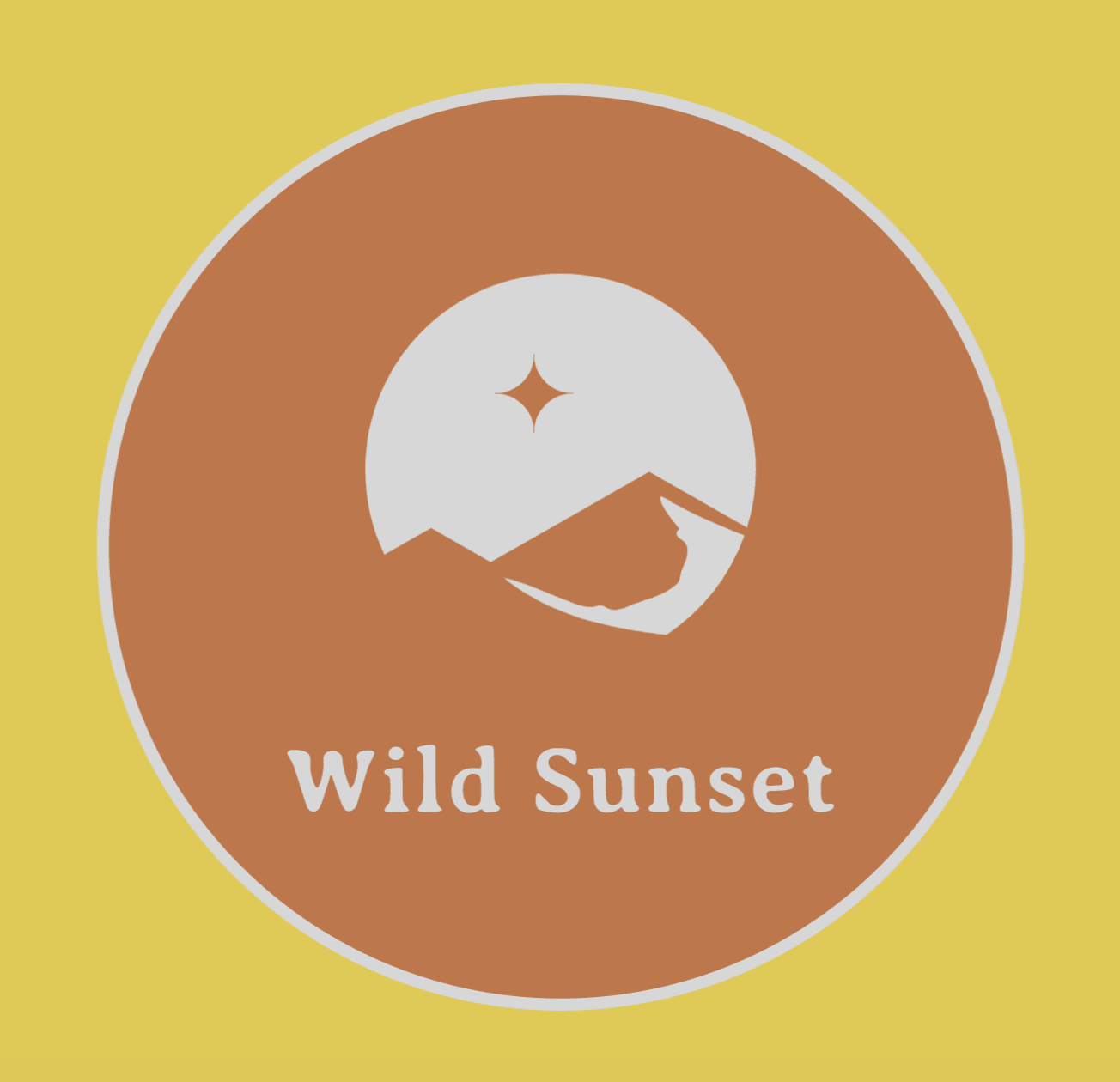 Vintage logo made with Wix Logo Maker - Wild Sunset