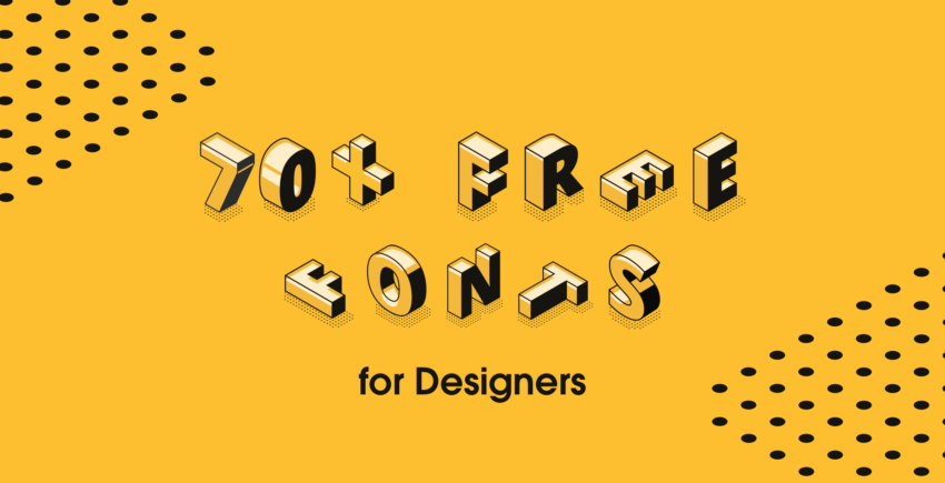 70+ Best Free Fonts for Designers – Free for Commercial Use in 2019