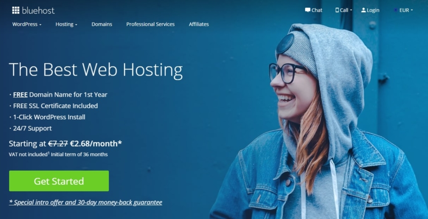 sito bluehost