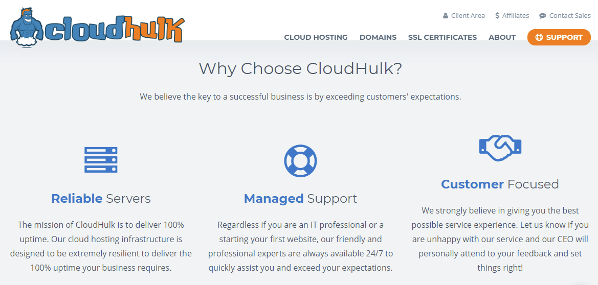 Business Cloud Hosting Solutions for Reliability Performance - CloudHulk