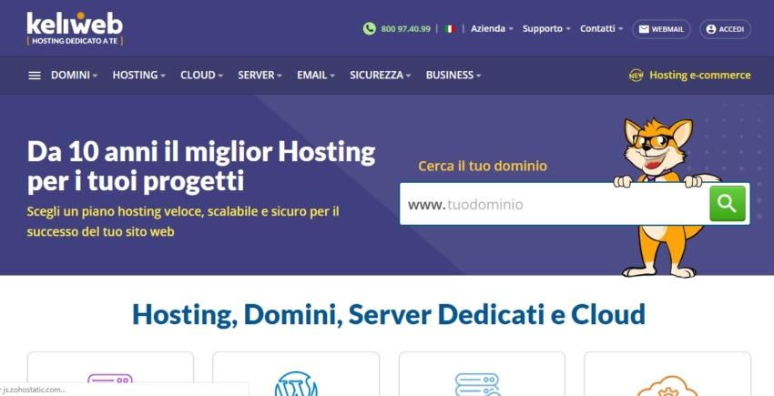 Italian Hosting Comparison Page