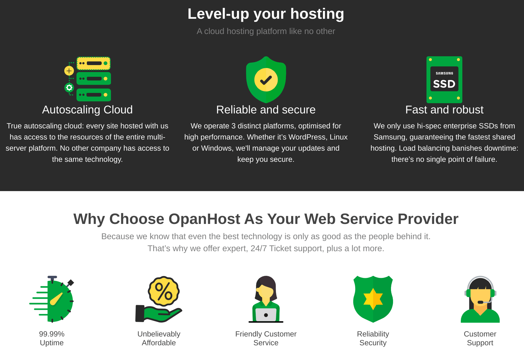 opanhost features