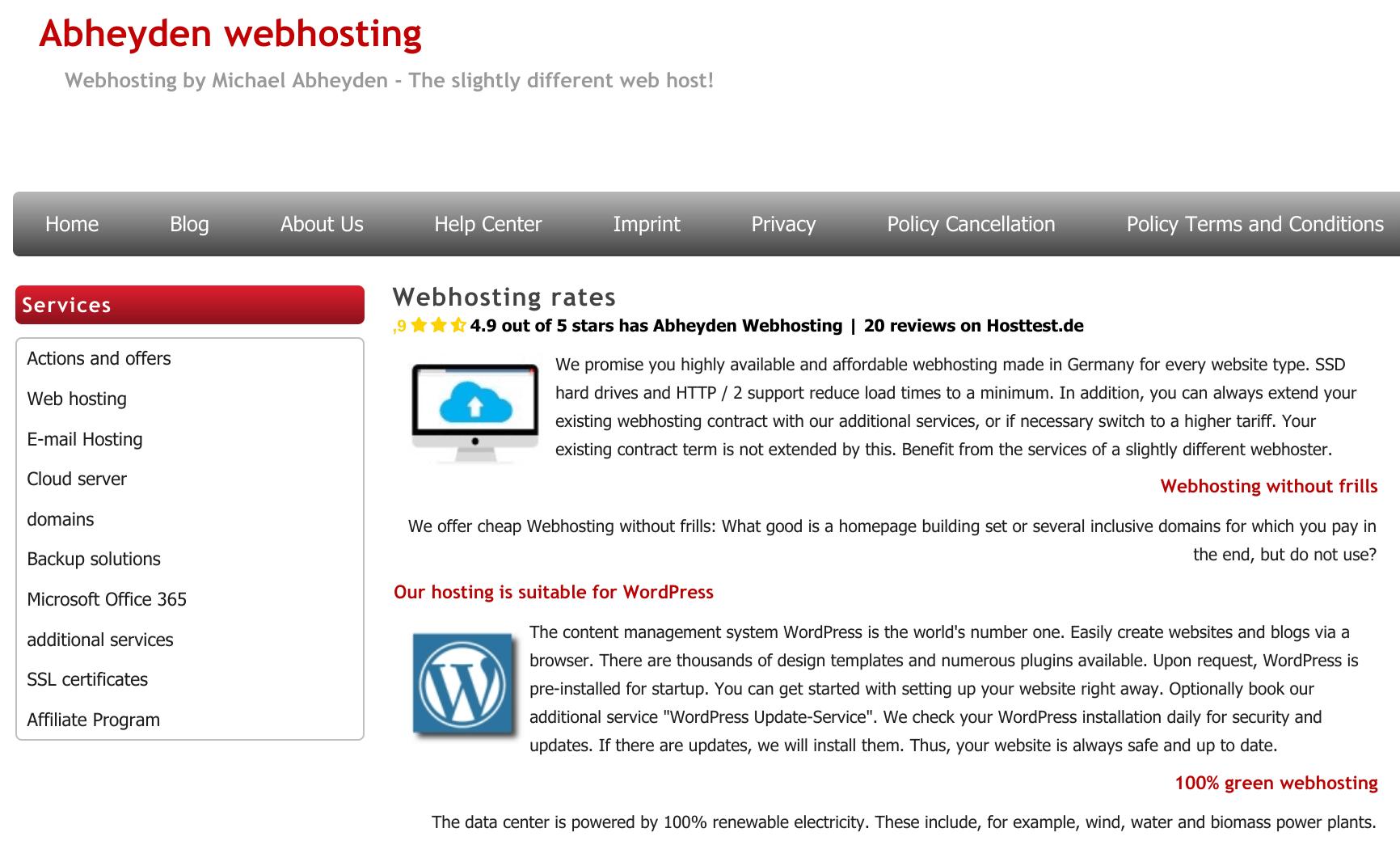 Abheyden Webhosting