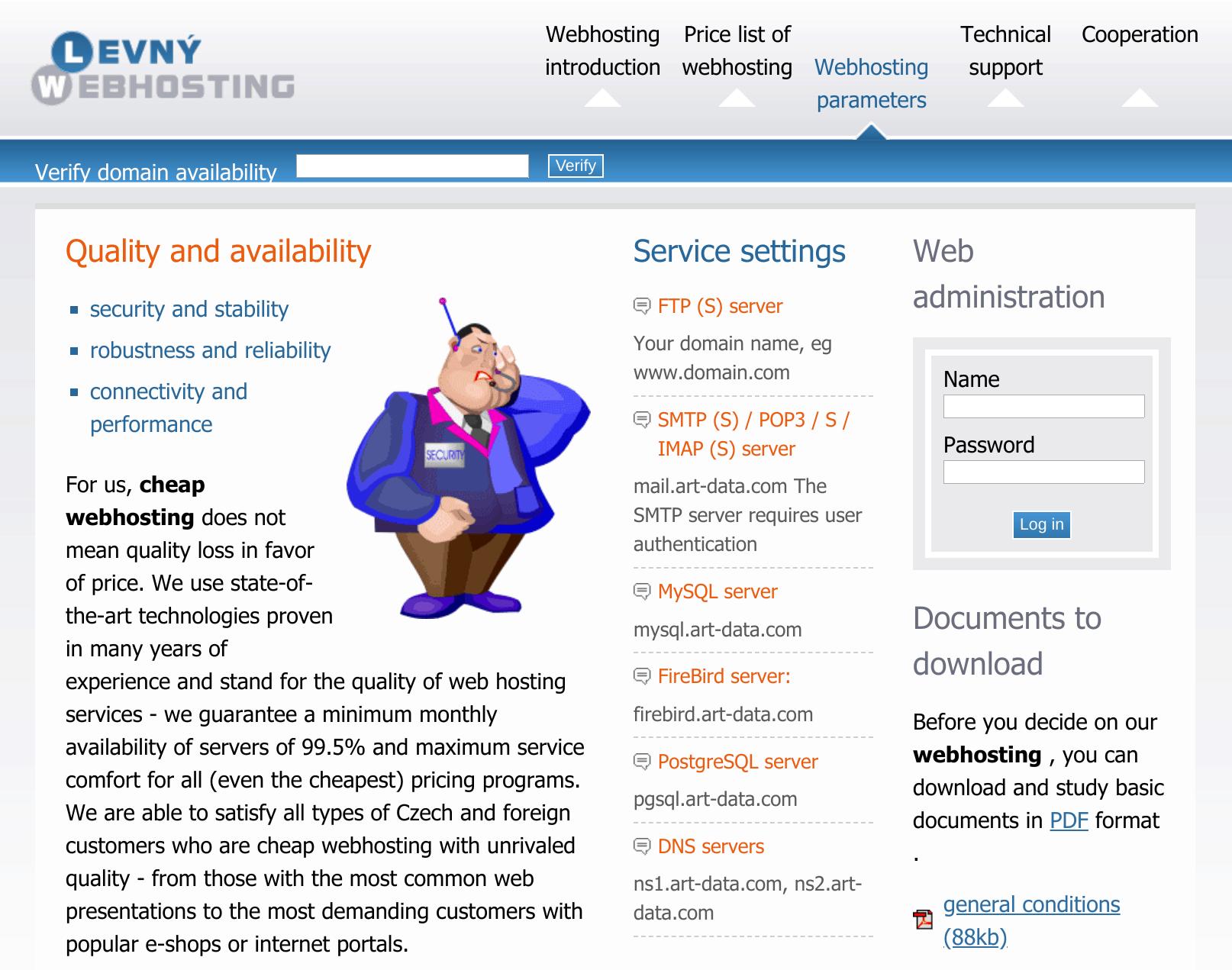 Levny Webhosting