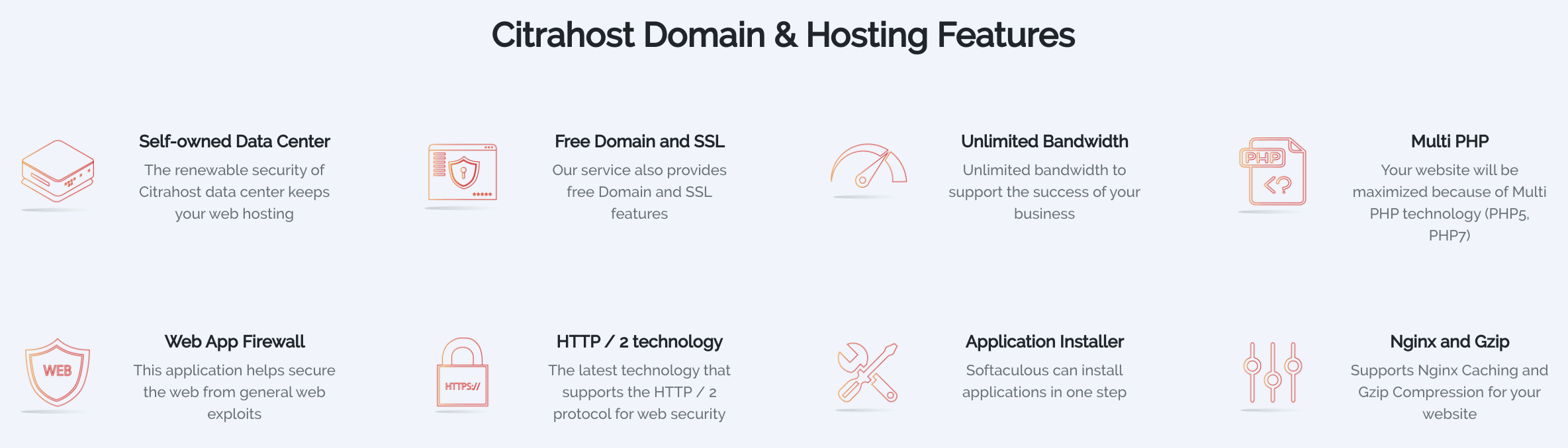 citrahost features