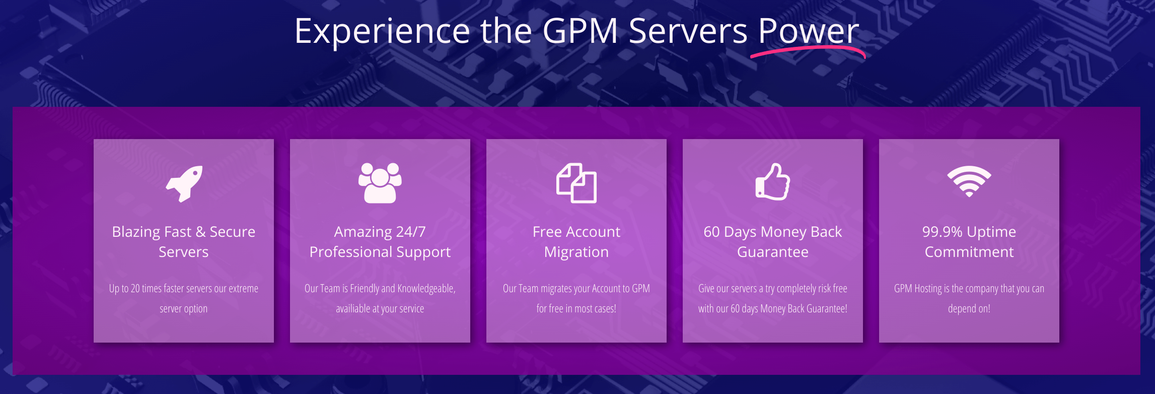 gpm features