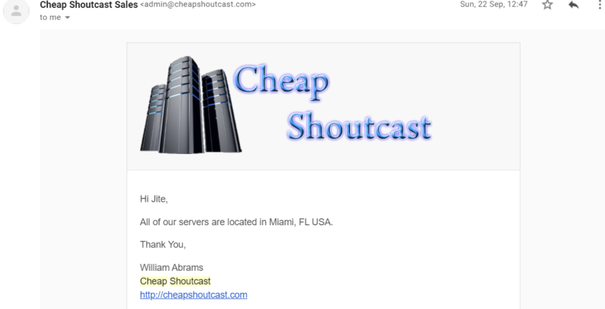 Cheap Shoutcast
