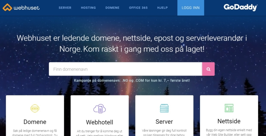 Norwegian Hosting Comparison Page