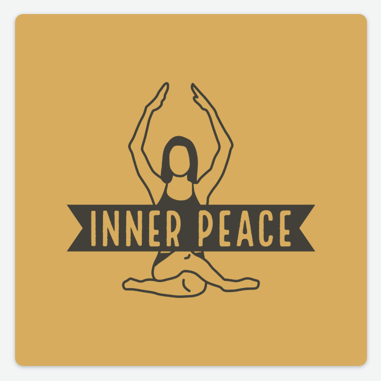 Sample logo made with Adobe Spark - Inner Peace