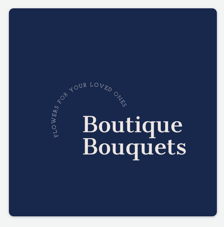 Sample logo made with Adobe Spark - Boutique Bouquets