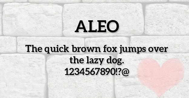 Free font - ALEO