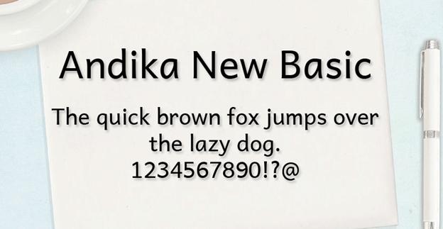 Free font - Andika
