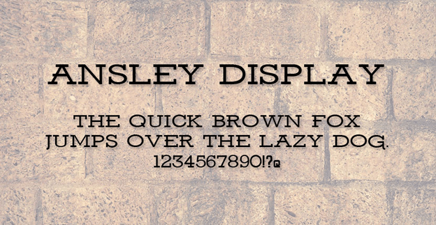 Free font - Ansley Display