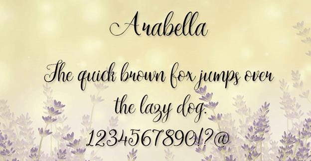 Free font - Arabella