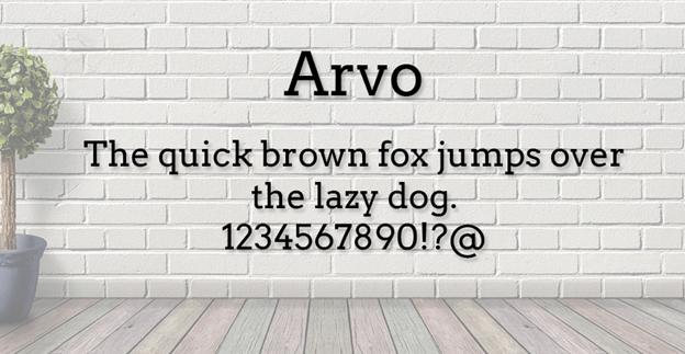Free font - Arvo