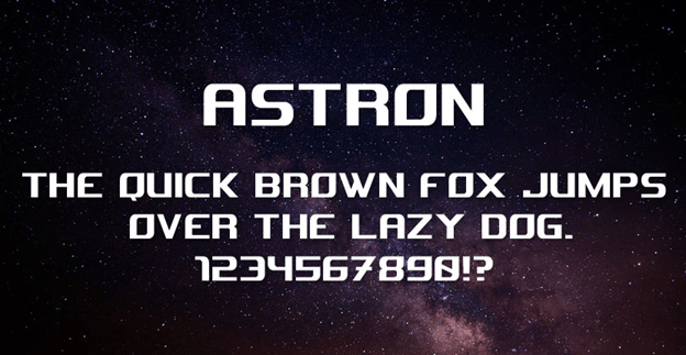 Free font - Astron