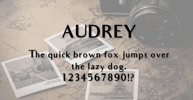 Free font - Audrey