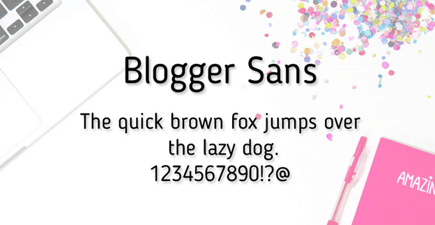 Free font - Blogger Sans